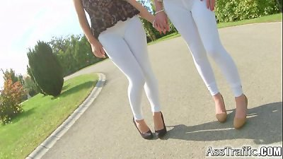 ass Traffic pretty brunette love assfuck pounding