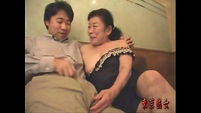 Japanese granny luving make-love