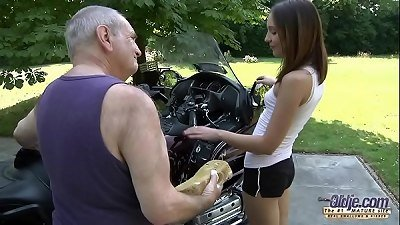 OLD YOUNG PORN - Grandpa Fucks Teen Hardcore bj youthfull girl puss