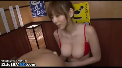 asian busty cougar plows bashful college guy