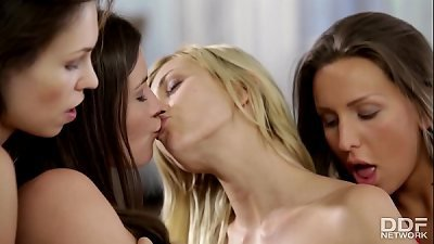 Cazy gorgeous lesbo 4 way with Tracy Lindsay & friends