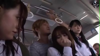 Young Cute Japanese Teen Schoolgirls Molested & Fucked Hard By Group On Bus