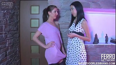 sapphic ass-fuck  strap on dildo