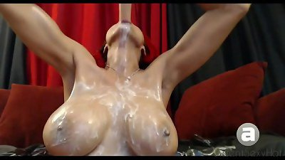 Deep mouth whipped cream gagging dt